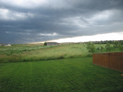 Storm front rolls over Metamora...