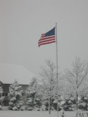 OLD GLORY in CARLOCK SNOW STORM