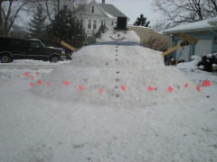 BIGEST SNOWMAN OUR FAMILY EVER BUILT