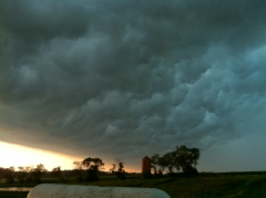 Storm rolling in outside Wyoming, IL