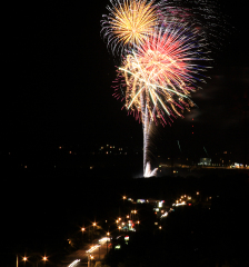 Glen Oak Fireworks from Tower Park