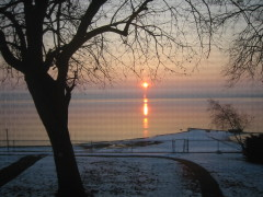 Sunrise over the Illinois River & Spring Bay 01/10/2008