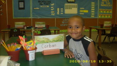 Corban's first day of kindergarten