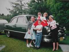 1950 Ford Sedan with Grandkids