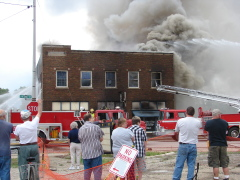 Building Fire in Mason City, Il.
