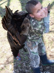 First Wild Turkey at age 8