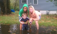 Mud puddle fun!
