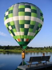 Balloon touchdown on Miller Lake