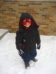 Playing in the blizzard!