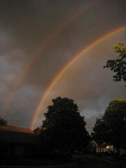Caught the DOUBLE RAINBOW!