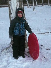 S is for sledding!