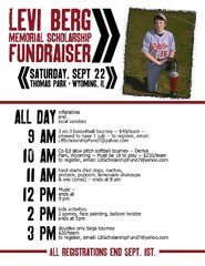 Benefit for Levi Memorial scholorship