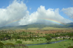 Maui Rainbow Seen From Hotel Balcony