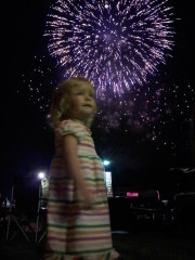 Girls enjoying fireworks!