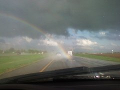 Rainbow ends on 74