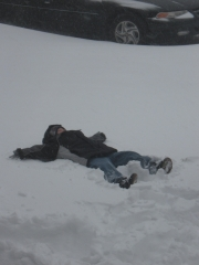 Karson's snow angel