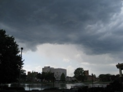 Storm clouds moving into Pekin Sunday