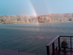 Rainbow over Lake Arlann Pekin, IL