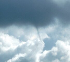 Funnel over Hudson IL. today.