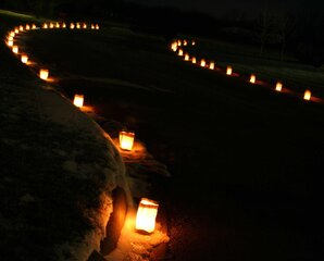 Luminaries on Christmas Eve