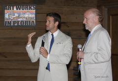 NEA CHAIR AND AARON SCHOCK PROMOTE ART