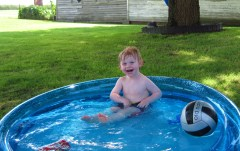 Logan swimming