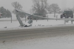 Snow causes problem on I 74 in Morton, I