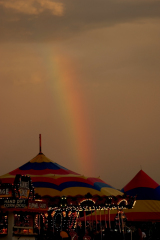 Rainbow over the fair.
