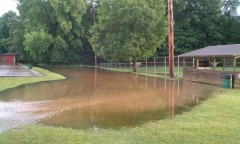 Flooding at Baseball Field