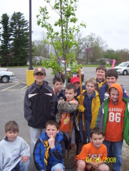 canton cubscouts pack 124 plants a tree