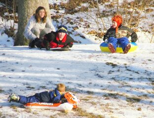 SLEDDING IN PEORIA