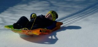 Sledding at Grandmas house