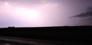 Lightning in Metamora around 10:00 p.m.