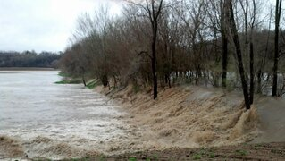 Levee break near Kartville