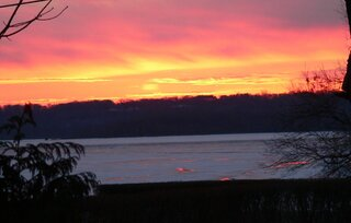 Last sunrise on the Illinois River...