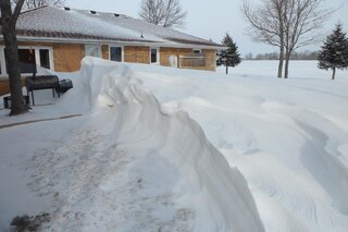 nice snow drift on the farm