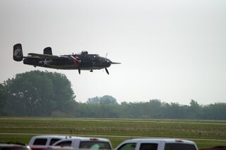 WWII B-25 Bomber at Fly-in Breakfast