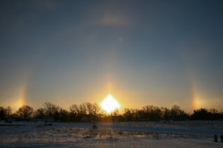 First Sun Dog of 2014 Winter