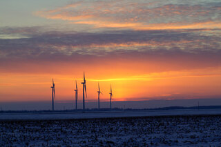 Prairie Pinwheel Sunset