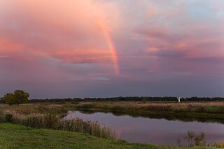 Sunset Rainbow at Banner Marsh