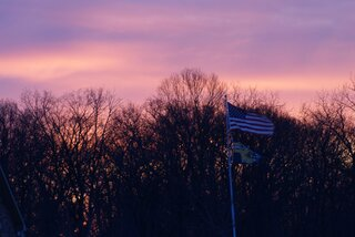 Old Glory in winter dawn