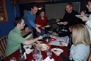 Holidays- Friends and Chocolate Fondue