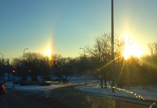 A Rare Sundog in the Peoria Sky
