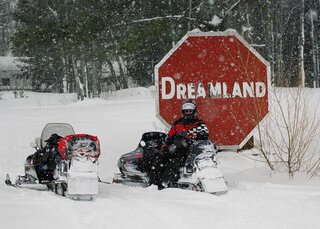 Family fun!  Snowmobiling in the UP!