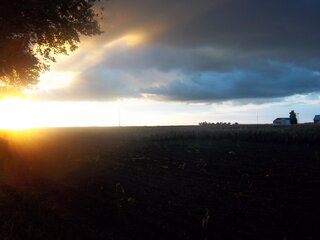 Sunset in rural Manito.