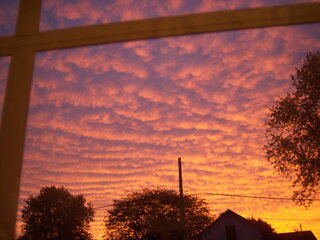 Sky this morning in Farmington