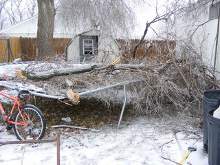 Ice storm in Lewistown il 2008
