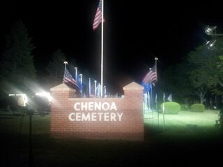 Chenoa Cemetery Avenue of Flags