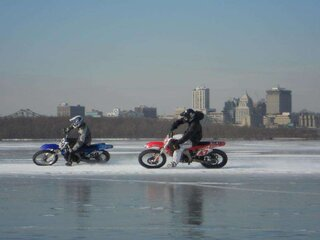 Illinois River Ice Riding