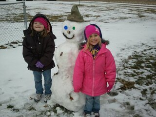 Best Friends & a snowman